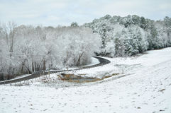 Winter in East Texas Stock Image