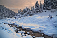 Winter. Eastern Europe, Bulgaria, Rodope mountains, beautiful winter landscape Royalty Free Stock Image