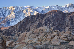 Winter, Eastern Sierra Stock Photo