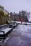 Winter Edinburgh II. February snow at Edinburgh Castle Royalty Free Stock Photography