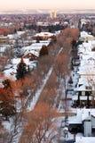 Winter edmonton in sunset Royalty Free Stock Photo