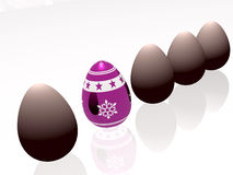 Winter egg Stock Photography