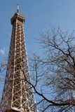 Winter eiffel tower Royalty Free Stock Image