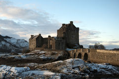 Winter at Eilean Donan Castle Stock Photography