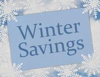 Winter-Einsparungens-Karte Stockbild