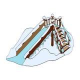 Winter Eis-geführt Auch im corel abgehobenen Betrag Stockbilder