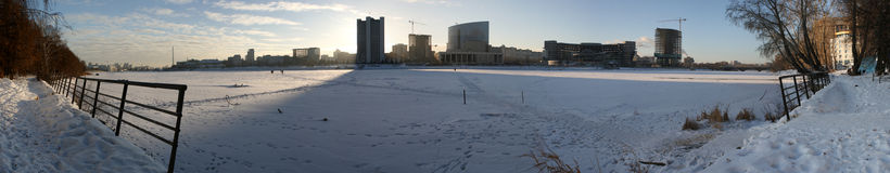Winter in Ekaterinburg Stock Photography