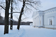 Winter on Elagin Island. St. Petersburg Stock Photos