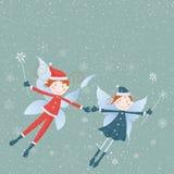 Winter elves Stock Photography