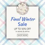 Winter end of season sale banner template Stock Photography