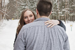 Winter engagement Royalty Free Stock Photos