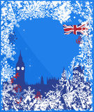 Winter England background vector Stock Photography