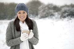 Winter enjoyment Stock Image
