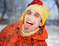 Winter entertainments Royalty Free Stock Images