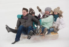 Winter entertainments Royalty Free Stock Photos