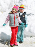 Winter entertainments Royalty Free Stock Photography