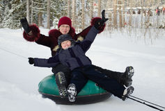 Winter entertainments Stock Images