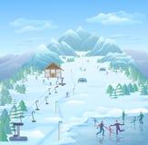 Winter-entspannende Park-Schablone lizenzfreie stockfotos