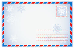 Winter envelope Stock Image