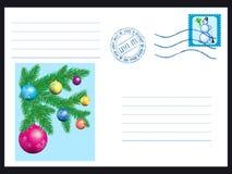 Winter envelope Royalty Free Stock Image