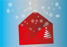 Winter envelope Royalty Free Stock Image