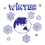 Winter-Erde Lizenzfreie Stockbilder
