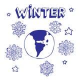Winter-Erde Stockfoto