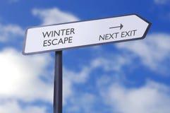 Winter escape Stock Images