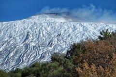 Winter Etna Park lizenzfreie stockfotos