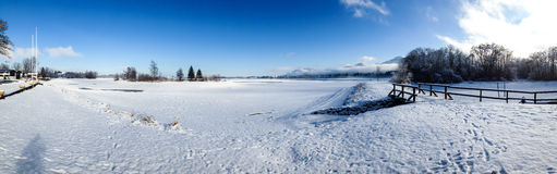 Winter. In Europe Bavaria Germany Royalty Free Stock Photography