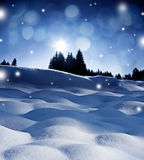 Winter evening royalty free stock images