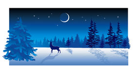 Winter Evening royalty free illustration