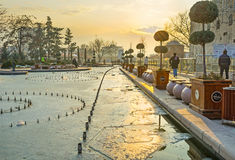The winter evening in Ankara Royalty Free Stock Photos