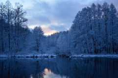 Winter evening Royalty Free Stock Photo