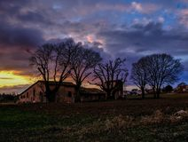 Rural Sunset in Velvia tones royalty free stock photos