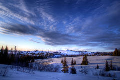 Winter evening clouds Royalty Free Stock Images
