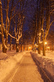 The winter evening Royalty Free Stock Photo