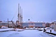 Winter evening in Helsinki Stock Images