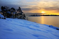 Winter evening landscape Royalty Free Stock Photos