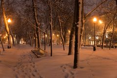 Winter evening. Moscow. Russia. Royalty Free Stock Image