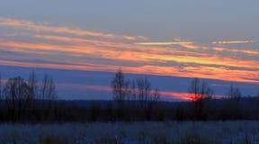 Winter evening Stock Photo