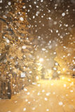 Winter evening scene. Stock Photo