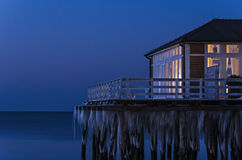 WINTER EVENING BY THE SEA Stock Photography