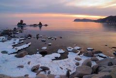 Winter Evening. Sea Of Japan-2 Stock Photos