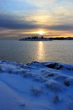 Winter evening seascape Royalty Free Stock Photography