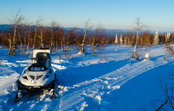 Winter evening in the Ural mountains Stock Photos