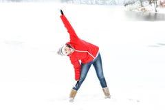Winter exercise Stock Photos