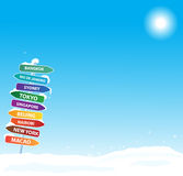 Winter exotic trip. Eps10 background Royalty Free Stock Photo