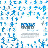 Winter extreme sport pattern Royalty Free Stock Images