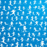Winter extreme sport pattern Stock Photo